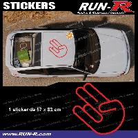 Adhesifs JDM Sticker de toit JDM 83 cm rouge mat Japan Domestic Market compatible avec Honda Nissan Toyota Subaru Mazda Run-R Stickers