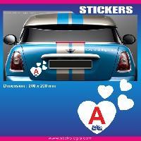 Adhesifs Jeunes Conducteurs Sticker jeune conducteur COEUR LOVE