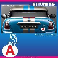 Adhesifs Jeunes Conducteurs Sticker jeune conducteur DIABLOTIN Run-R Stickers