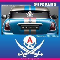 Adhesifs Jeunes Conducteurs Sticker jeune conducteur PIRATE Run-R Stickers