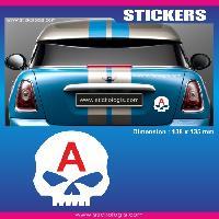 Adhesifs Jeunes Conducteurs Sticker jeune conducteur TETE DE MORT HARLEY Run-R Stickers