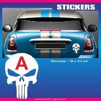 Adhesifs Jeunes Conducteurs Sticker jeune conducteur TETE DE MORT PUNISHER Run-R Stickers