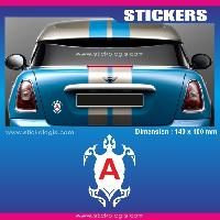 Adhesifs Jeunes Conducteurs Sticker jeune conducteur TORTUE TRIBAL Run-R Stickers