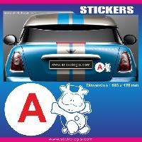 Adhesifs Jeunes Conducteurs Sticker jeune conducteur VACHE Run-R Stickers
