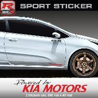 Adhesifs Kia PW22 NR - Sticker Powered by KIA - NOIR ROUGE - pour Cee'd Pro-cee'd Sportage Rio Venga Niro Soul Run-R Stickers