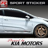 Adhesifs Kia PW22RN - Sticker Powered by KIA - ROUGE NOIR - pour Ceed Pro-Ceed Sportage Rio Venga Niro Soul Run-R Stickers