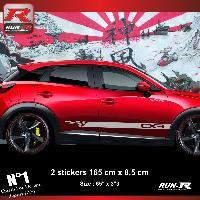 Adhesifs Mazda Sticker bas de caisse 00EHA compatible avec Mazda CX3 - Argent