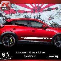 Adhesifs Mazda Sticker bas de caisse 00EHB pour Mazda CX3 - Blanc Run-R Stickers
