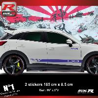 Adhesifs Mazda Sticker bas de caisse 00EHM pour Mazda CX3 - Marine Run-R Stickers