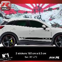 Adhesifs Mazda Sticker bas de caisse 00EHN compatible avec Mazda CX3 - Noir
