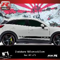 Adhesifs Mazda Sticker bas de caisse 00EHN pour Mazda CX3 - Noir Run-R Stickers