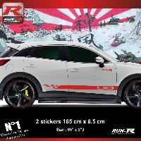 Adhesifs Mazda Sticker bas de caisse 00EHR MAZDA CX3 - Rouge Run-R Stickers