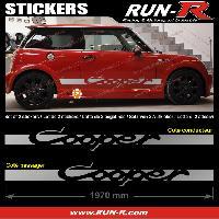 Adhesifs Mini 2 stickers MINI COOPER 197 cm - ARGENT