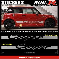 Adhesifs Mini 2 stickers MINI COOPER 197 cm - ARGENT Run-R Stickers