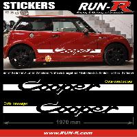 Adhesifs Mini 2 stickers MINI COOPER 197 cm - BLANC Run-R Stickers
