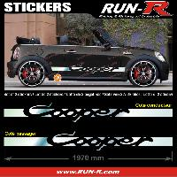 Adhesifs Mini 2 stickers MINI COOPER 197 cm - CHROME Run-R Stickers