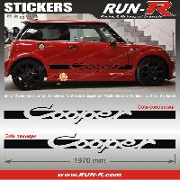 Adhesifs Mini 2 stickers MINI COOPER 197 cm - NOIR Run-R Stickers
