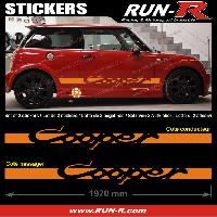 Adhesifs Mini 2 stickers MINI COOPER 197 cm - ORANGE Run-R Stickers