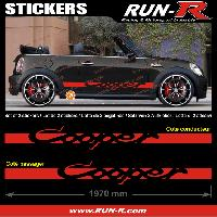 Adhesifs Mini 2 stickers MINI COOPER 197 cm - ROUGE Run-R Stickers