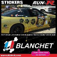 Adhesifs Noms Pilotes 2 stickers NOM PILOTE drift rallye style Ken BLOCK - Lettrage blanc Run-R Stickers