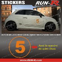 Adhesifs Numeros 2 stickers NUMERO DE COURSE 28 cm - ORANGE - TOUT VEHICULE