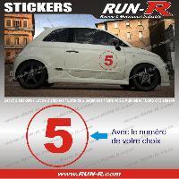 Adhesifs Numeros 2 stickers NUMERO DE COURSE 28 cm - ROUGE - TOUT VEHICULE Run-R Stickers