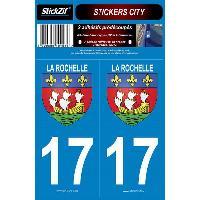 Adhesifs Plaques Immatriculation 2 Adhesifs CITY 17 LA ROCHELLE Generique