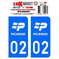 Adhesifs Plaques Immatriculation 2 Adhesifs Resine Premium Departement 02 Generique