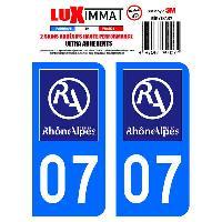 Adhesifs Plaques Immatriculation 2 Adhesifs Resine Premium Departement 07