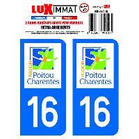 Adhesifs Plaques Immatriculation 2 Adhesifs Resine Premium Departement 16 Generique