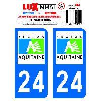 Adhesifs Plaques Immatriculation 2 Adhesifs Resine Premium Departement 24 Generique