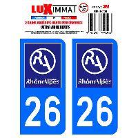Adhesifs Plaques Immatriculation 2 Adhesifs Resine Premium Departement 26