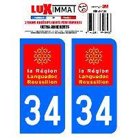 Adhesifs Plaques Immatriculation 2 Adhesifs Resine Premium Departement 34