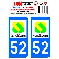 Adhesifs Plaques Immatriculation 2 Adhesifs Resine Premium Departement 52 Generique