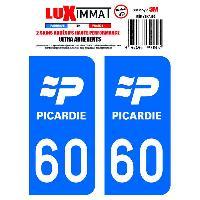 Adhesifs Plaques Immatriculation 2 Adhesifs Resine Premium Departement 60 Generique