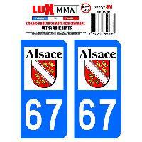 Adhesifs Plaques Immatriculation 2 Adhesifs Resine Premium Departement 67 Generique