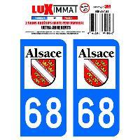 Adhesifs Plaques Immatriculation 2 Adhesifs Resine Premium Departement 68 Generique