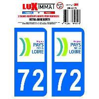 Adhesifs Plaques Immatriculation 2 Adhesifs Resine Premium Departement 72 Generique
