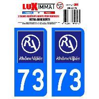 Adhesifs Plaques Immatriculation 2 Adhesifs Resine Premium Departement 73