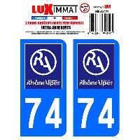 Adhesifs Plaques Immatriculation 2 Adhesifs Resine Premium Departement 74