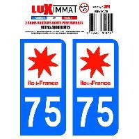 Adhesifs Plaques Immatriculation 2 Adhesifs Resine Premium Departement 75