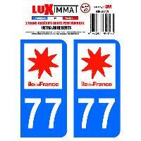 Adhesifs Plaques Immatriculation 2 Adhesifs Resine Premium Departement 77