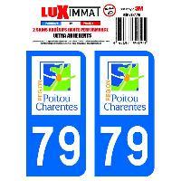 Adhesifs Plaques Immatriculation 2 Adhesifs Resine Premium Departement 79 Generique