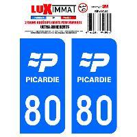 Adhesifs Plaques Immatriculation 2 Adhesifs Resine Premium Departement 80