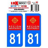 Adhesifs Plaques Immatriculation 2 Adhesifs Resine Premium Departement 81