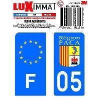 Adhesifs Plaques Immatriculation 2 Adhesifs Resine Premium F+05 pour moto Generique