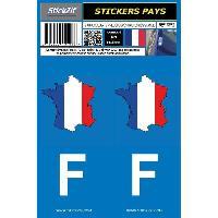 Adhesifs Plaques Immatriculation 2 autocollants Pays carte de FRANCE