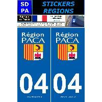 Adhesifs Plaques Immatriculation 2 autocollants Region Departement 04