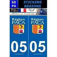 Adhesifs Plaques Immatriculation 2 autocollants Region Departement 05