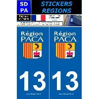Adhesifs Plaques Immatriculation 2 autocollants Region Departement 13